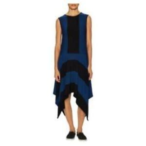 Athleta Derek Lam Crosby Blue Black Stripe Dress